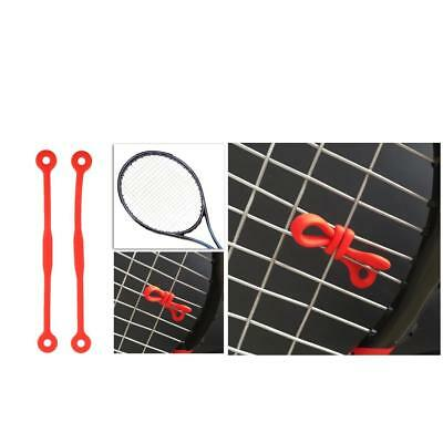 4Pcs Shock Absorber Vibration Dampener For Sports Tennis Racquet Red Color