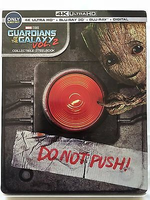 Guardians of the Galaxy Vol 2 (4K Ultra HD Disc ONLY) + STEELBOOK CASE! SEE INFO
