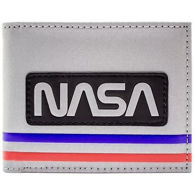New Official Nasa Astronaut Space Suit Style Silver Id & Card Bi-Fold Wallet