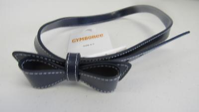 GYMBOREE Brightest in Class Navy Blue Belt Back to School w/Bow Size 3-4 5-7 NEW