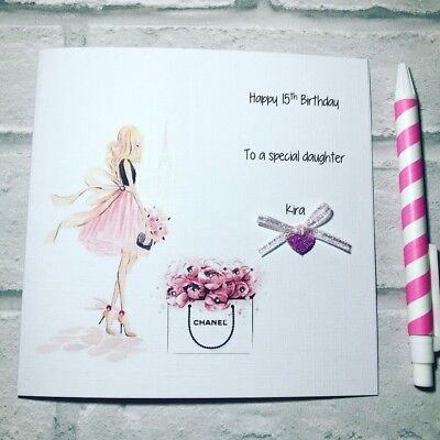 Beautiful Handmade Birthday Card For Women Sister Mum Daughter 18th 21st 30th