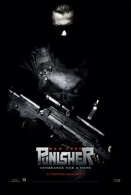 PUNISHER 2 WAR ZONE MOVIE POSTER  DS ORIGINAL Version B VF 27x40 RAY STEVENSON