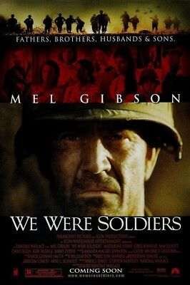 WE WERE SOLDIERS MOVIE POSTER 2 Sided ORIGINAL VF 27x40 MEL GIBSON