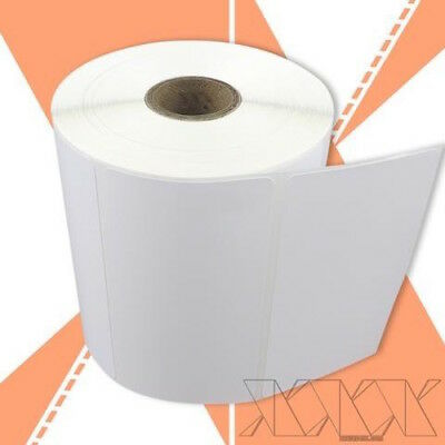4 rolls 4x2 Direct Thermal Labels Zebra Compatible, Perforated, 750/RL