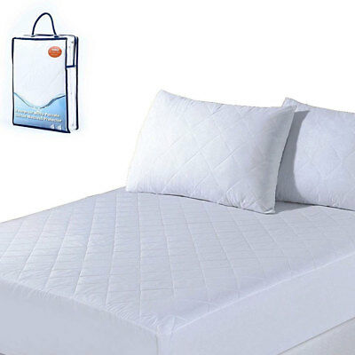 Micro Percale Waterproof Quilted Mattress Protector Topper Fitted Bed Cover