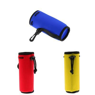 3pcs Neoprene Water Bottle Cooler Carrier Cover Sleeve Tote Bag Pouch 175mm