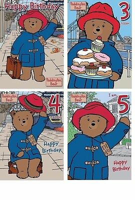 Official PADDINGTON BEAR Happy Birthday Cards General Age 3 4 5 Today Party NEW