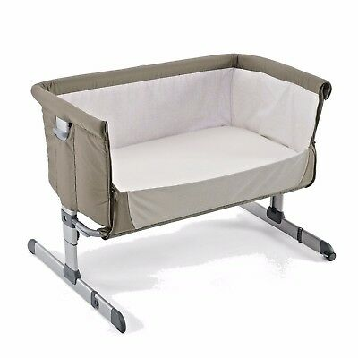 Chicco Next 2 Me Bed Side Baby Crib - Dove Grey - New