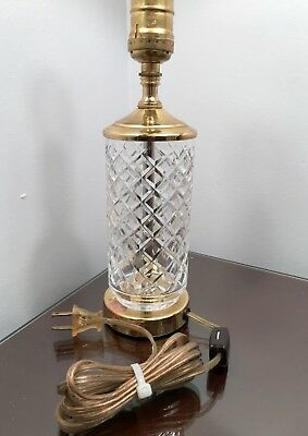 Vintage waterford alana crystal brass electric table lamp 4871 vintage waterford alana crystal brass electric table lamp aloadofball Image collections