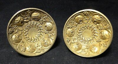 Lot Of 2 Wrists Bronze Decorated With Floral Time Empire B1713