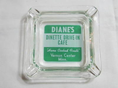 "Vintage Vernon Center Mn ""diane's Home Cooked Foods Cafe"" Ashtray"