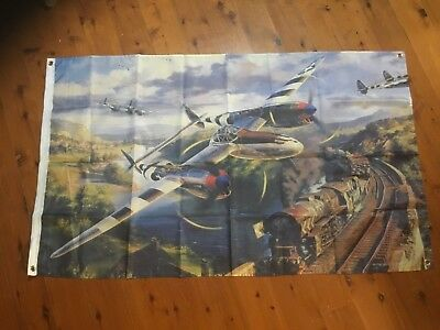 Lockheed  fighter bomber ww2  raaf Air Force raf man cave flag shed sign poster