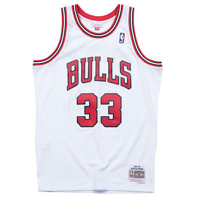 various colors 92353 dcf2e SCOTTIE PIPPEN CHICAGO Bulls Mitchell & Ness Throwback ...
