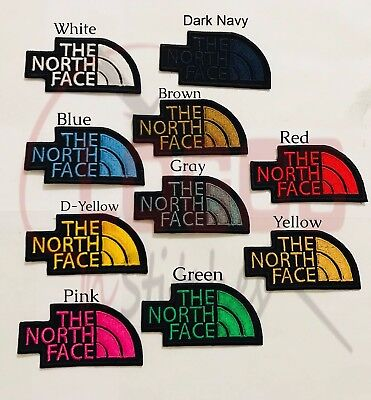 The North Face Embroidered Badge Iron On / Sew On Clothes Jacket Jeans N-393