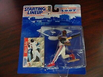 Starting Lineup 1997 Figure and Card Albert Belle Indians MLB