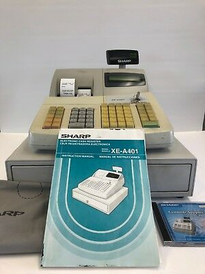 Download free pdf for sharp xe-a401 cash register other manual.