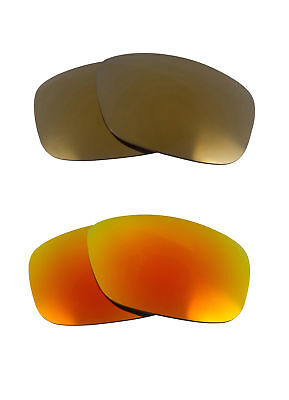 ff1a6fa841 Best SEEK Polarized Replacement Lenses for Oakley PITBULL Gold Fire Red  Mirror