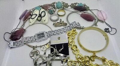 Old Large Vintage Lot of Assorted Costume Jewelry Nice Mixed Lot!