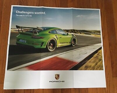2018 Porsche 911 GT3 RS Showroom Poster Brochure Authentic Official Gt3rs