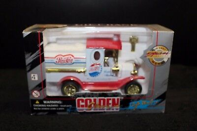 Golden Classic Special Edition Die-Cast Metal Pepsi-Cola Truck Coin Bank