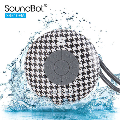 4c553650030 SOUNDBOT SB510FM FM Radio Water Resistant Bluetooth Wireless Shower Speaker  - $15.00 | PicClick