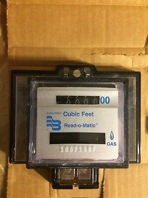 Badger Cubic Feet Gas Meter Read-O-Matic,  Remote Wall Unit Direct Reading.