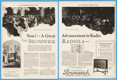 1924 Brunswick Balke Chicago Radiola Radio Phonograph No.360 Super-Heterodyne Ad