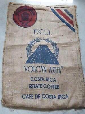 Hessian Sack Volcan from Costa Rica Beautiful Recycled Coffee Sack Good Quality