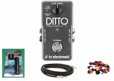 New TC Electronic Ditto Stereo Looper Guitar Pedal w/ Free Cable, Winder & Pics