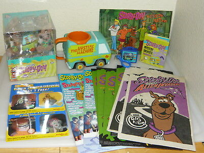Scooby Doo Collection Lot Keychain Sticker Album Fast Food Bags Cup Jelly Pops +