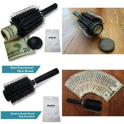 Hair Brush Diversion Safe Stash With Smell Proof Bag By Stash It Can Safe