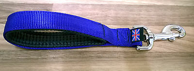 Padded Short Handle Dog Lead Obedience Training Police Style***