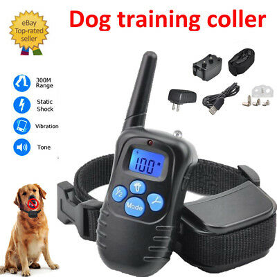 Remote Dog Shock Training Collar 300M Rechargeable Waterproof  Vibration Trainer