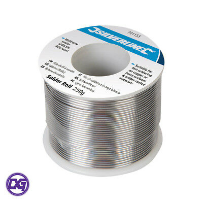 Silverline 250g Roll of Multi-Core Solder Wire 60% Tin 40% Lead Electronics