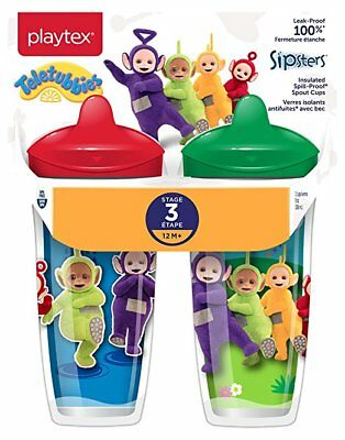 Playtex Sippy Cup Teletubbies Leakproof Insulated Sipsters Toddler Baby Spout