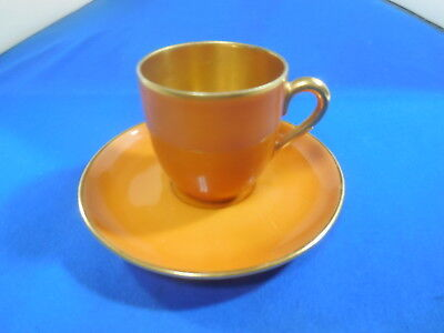 "Antique  Demitasse Cup and Saucer ""Rosen thale"" Selb Bavaria"