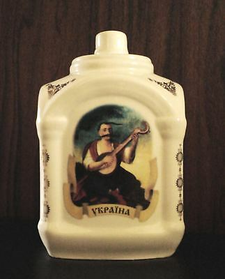 Vintage Ukrainian Rare Porcelain Wine/Liqueur - Folk Art Painted Bottle