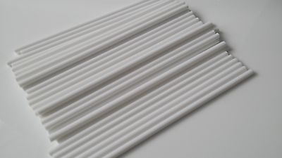 """White plastic cake dowels support for cakes 8"""" or 12"""" - Choose your Quantity"""
