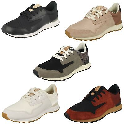 Clarks Ladies Trainer Style Shoes - Floura Mix