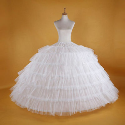 Fashion WHITE Big 7-HOOP WEDDING BRIDAL PROM PETTICOAT UNDERSKIRT CRINOLINE