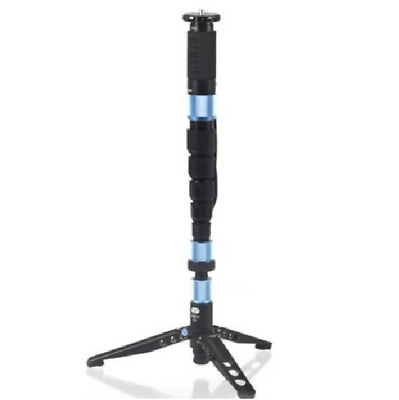 Sirui P-326S 6 Section Carbon Fiber Monopod w/ Three Stand Feet & Travel Bag