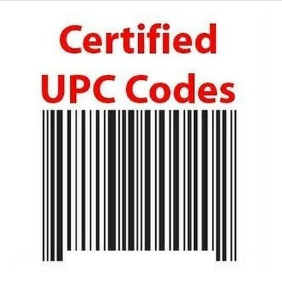 500 UPC Numbers Barcodes Bar Code GS1-approved EAN Amazon Lifetime one time buy