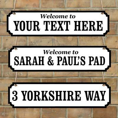Personalised Family Name plaque, Vintage Custom Road Sign, New House Gift +SIZES