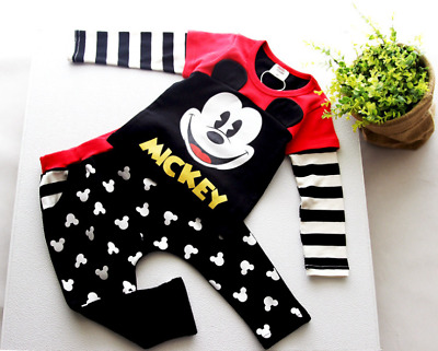 1 set baby toddler Kids boys girls outfits cotton top shirt+pants tracksuit