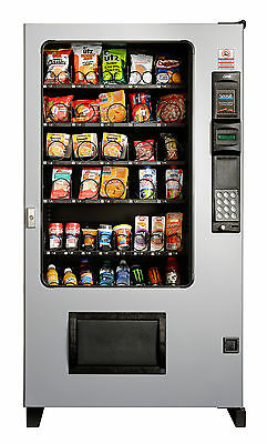 Candy Chip & Snack Vending Machine Gray/Black, AMS 45 Select w/Coin & Bill Mech