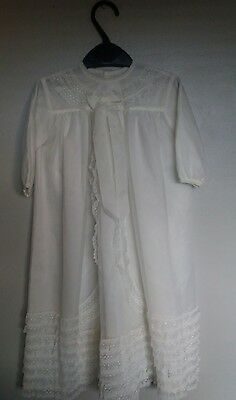 vintage babies/childs christning dress gown