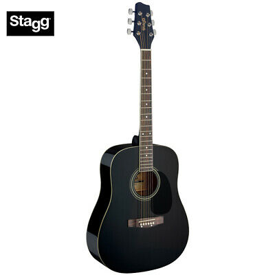 NEW Stagg SA20D Full Size Student Dreadnought Acoustic Guitar - Black