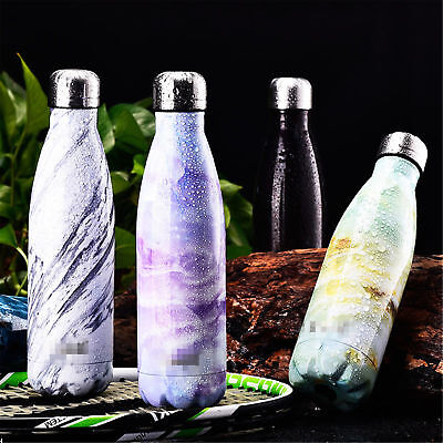 New Double Walled Vacuum Insulated Stainless Steel Reusable 500ml Water Bottle