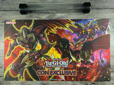 2017 CON EXCLUSIVE YuGiOh Extravaganza Playmat TCG Mat Free High Quality Tube