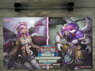 2018 WCQ YuGiOh Darklord Duel  Playmat TCG Mat Free Tube New Exclusive Design